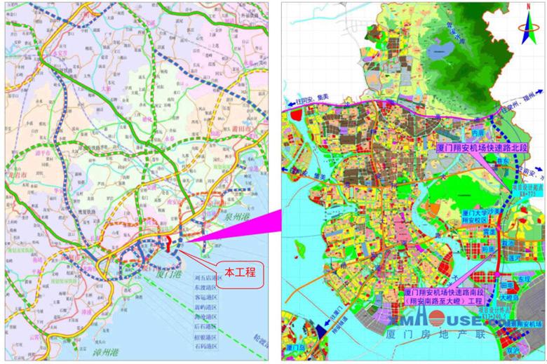 翔安机场快速路南段预计2017年9月完工